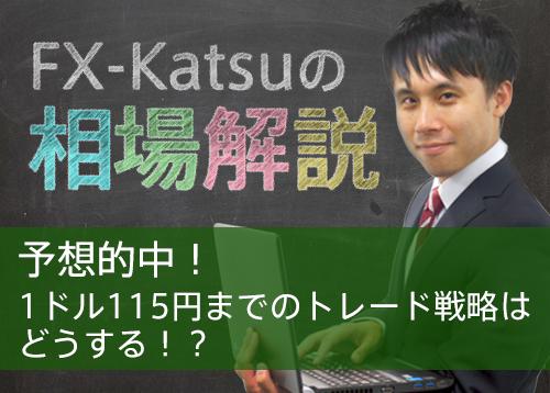 予想的中!1ドル115円までのトレード戦略はどうする!?