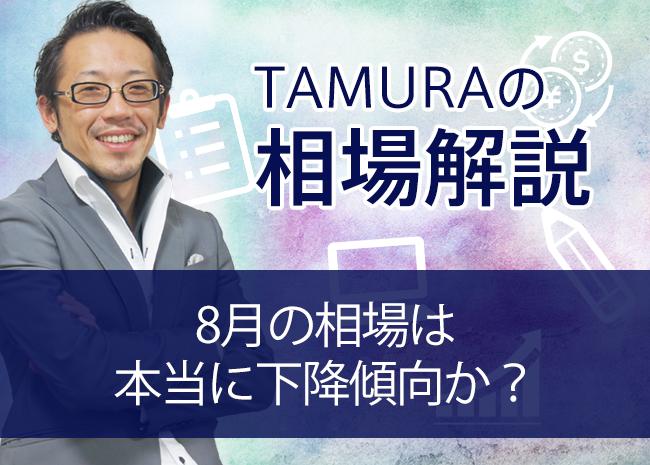 【TAMURAのトレードコラム】8月の相場は本当に下降傾向か?