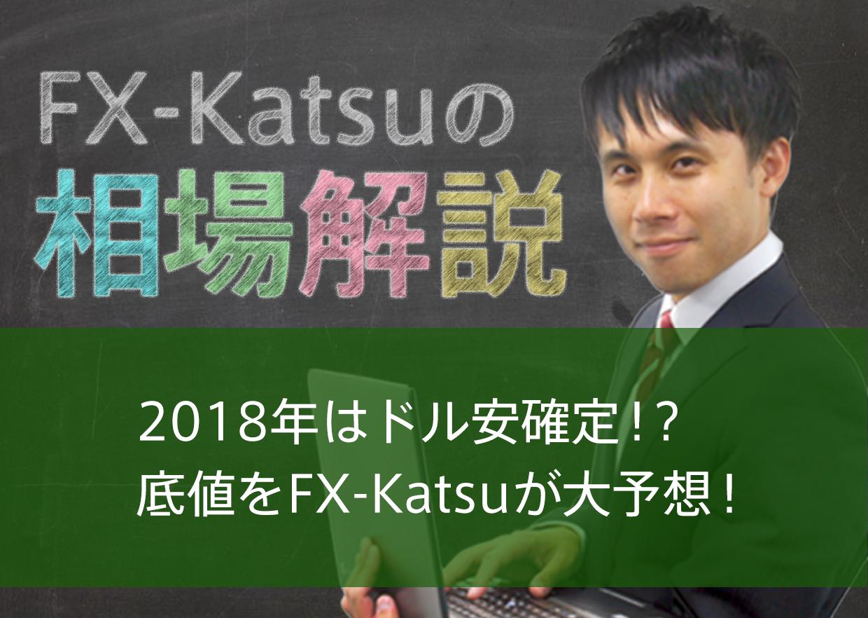 2018年はドル安確定!?底値をFX-Katsuが大予想!